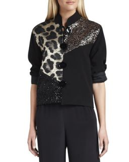 Womens Gold Rush Combo Jacket   Caroline Rose   Multi/Blk (LARGE (12/14))