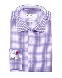 Mens Lyon Gingham Dress Shirt, Purple   Robert Graham   Purple (16.5)