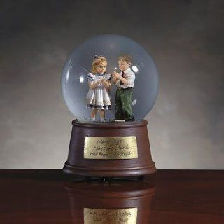 Mama Says   Here's The Church And Here's The Steeple Musical Snow Globe   55025   Collectible Figurines