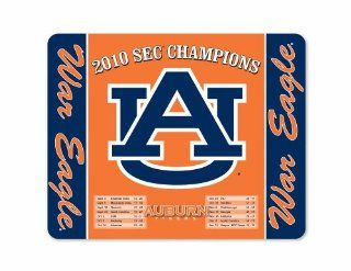 NCAA Auburn Tigers SEC Champions 2010 with War Eagle & Logo Full Color Print Deskpad : Sports Fan Office Desk Pads And Blotters : Sports & Outdoors