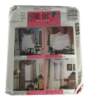 McCall's 5283 Sewing Pattern Home Dec in a Sec Swag, Jabot, Curtains Size one