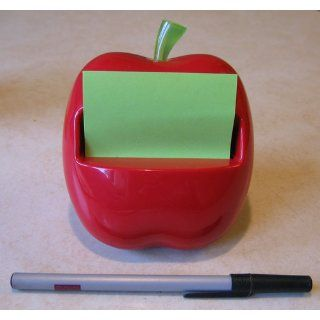 Post it Pop up Notes Dispenser for 3 x 3 Inch Notes, Apple Shaped Dispenser, Includes 1 Canary Yellow Note  Sticky Note Dispensers
