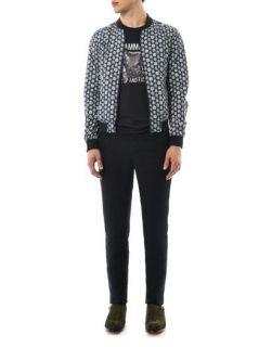 Crest print reversible bomber jacket  Dolce & Gabbana  MATCH