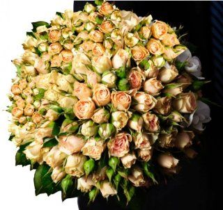 Flower Delivery   50 Giant, Long Stem Champagne Roses from Spring in the Air Luxury Roses : Fresh Cut Format Rose Flowers : Grocery & Gourmet Food