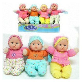 "DREAM COLLECTION GIRLS SOFT BABY DOLL TOY DOLL SIZE 9""  ASSORTED COLORS SENT AT RANDOM (ONE DOLL PER PURCHASE) PHOTO IS FOR SHOW ONLY: Toys & Games"