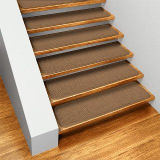 Set of 15 Skid resistant Carpet Stair Treads   Toffee Brown   8 In. X 30 In.   Several Other Sizes to Choose From   Slip Resistant Stair Treads