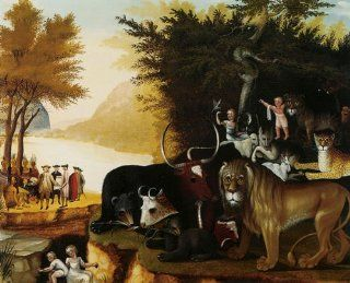"CANVAS The Peaceable Kingdom 1837 by Edward Hicks 20"" X 24"" Image Size Reproduction on CANVAS. Several more sizes available!   Prints"