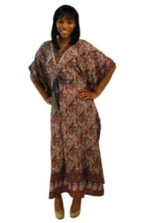 Paisley Design Pull String Pull String Rayon Caftan Kaftan   Available in Several Colors (Turquoise): World Apparel: Clothing