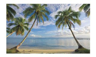 York Wallcoverings MP4911M Beach View with Palm Trees, Mural   Wall Murals