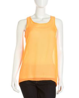 Hi Low Tunic, Neon Orange