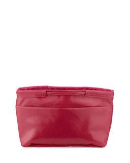 Snake Print Faux Leather Pouch Bag, Pink