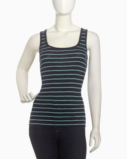 Striped Scoop Neck Tank, Nocturnal/Hawaii Surf