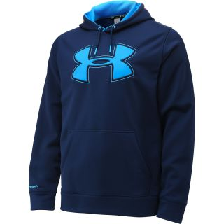 UNDER ARMOUR Mens Armour Fleece Storm Big Logo Hoodie   Size: Xl, Academy