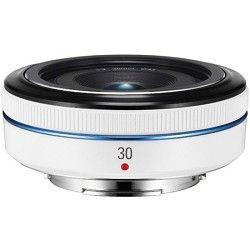 Samsung 30mm  f/2.0 NX Pancake lens for NX Series Cameras   White