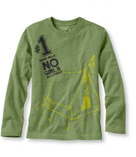 Boys Long Sleeve Graphic Tees, Camp Rule