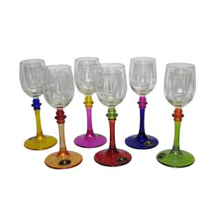 Certified International Hot Tamale Hand painted Wine Glasses (Set of 6