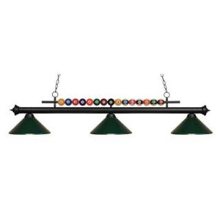 Filament Design Kerstin 3 Light Matte Black Billiard Light CLI JB049275