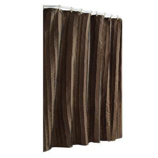 allen + roth Polyester Espresso Shower Curtain