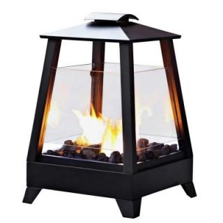 Real Flame Sonoma 20 in. Gel Fuel Outdoor Fireplace in Black DISCONTINUED 2950