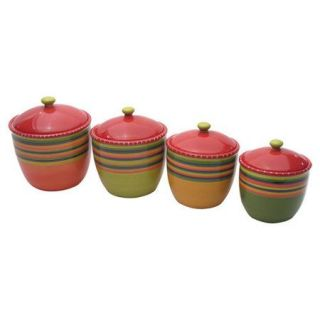 Certified International Hot Tamale 4 Piece Canister Set with Lid