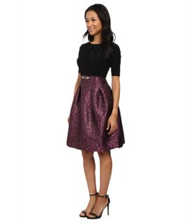 Adrianna Papell Mrs O Fit Flare Jacquard Dress