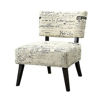 COASTER Fabric French Script Accent Chair, Beige (902114)