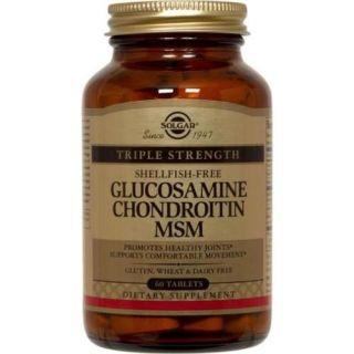 Triple Strength Glucosamine Chondroitin MSM (Shellfish Free) Solgar 60 Tabs