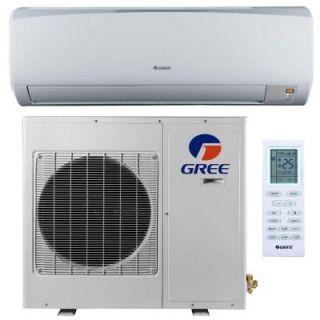 GREE High Efficiency 9,000 BTU 3/4 Ton Ductless Mini Split Air Conditioner and Heat Pump   208 230V/60Hz RIO09HP230V1B