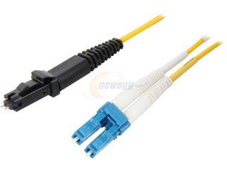 Coboc CY OS1 MTRJ/LC 5 16.4 ft. Yellow Singlemode 9/125 Duplex LSZH Fiber Patch Cable MTRJ (Male)   LC,M M
