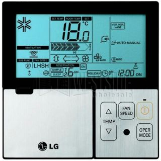 LG PQRCVSL0 Wired Thermostat for High Efficiency Ductless Mini Split Air Conditioner with Heat Pump Inverter