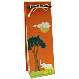 Mr. Ellie Pooh Orange Elephant Themed Dung Paper List Pad (Sri Lanka)