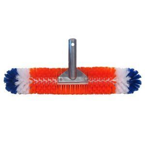 Blue Wave Brush Around 360 Wall & Floor Pool Brush   18L x 3.5 Diameter, Built in Corner Brushes, Easily Handles Cove Transitions   NA315