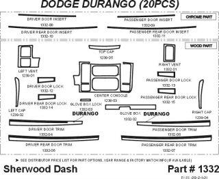 2001, 2002, 2003 Dodge Durango Wood Dash Kits   Sherwood Innovations 1332 N50   Sherwood Innovations Dash Kits