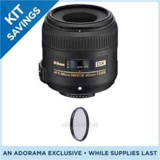 Nikon 40mm f/2.8G AF S DX Micro Nikkor Lens, USA (Free Circular Polarizer) #2200 2200 KV