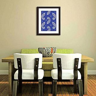 PTM Images Paisley Gicl e Framed Graphic Art in Blue