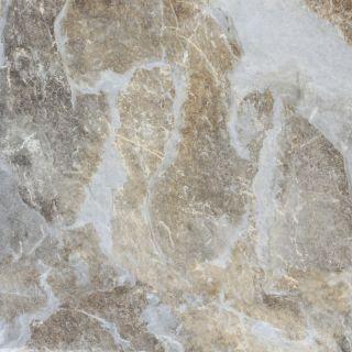 FLOORS 2000 9 Pack Villa Rica Ocean Glazed Porcelain Floor Tile (Common: 13 in x 13 in; Actual: 13.123 in x 13.123 in)