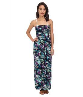 Tommy Bahama Moorea Smocked Long Dress Cover Up