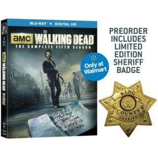 The Walking Dead: The Complete Fifth Season (Blu ray + Digital HD + Limited Edition Sheriff Badge) ( Exclusive) (Widescreen)