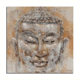 Safavieh Buddha Painting in Orange and White   ART2009A