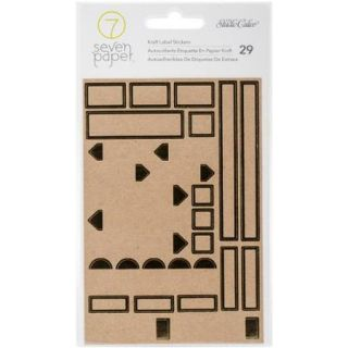 Seven Paper Amelia Kraft Stickers 4 Inch X 6 Inch Gold Foiled Labe