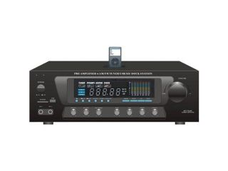 SOUND AROUND PYLE INDUSTRIES PT270AIU 600 Watt Stereo Receiver AM FM Tuner, USB SD, iPod Docking Station and Subwoofer Control