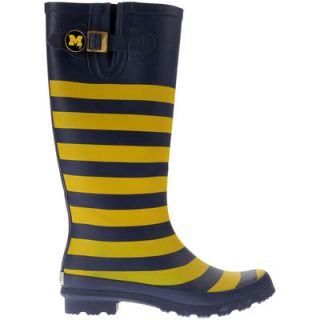 Michigan Wolverines Lillybee U Womens Rain Boots with Logo Snap