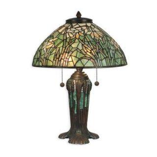 Dale Tiffany 22 in. Daffodil Replica Antique Bronze/Verde Table Lamp TT90429