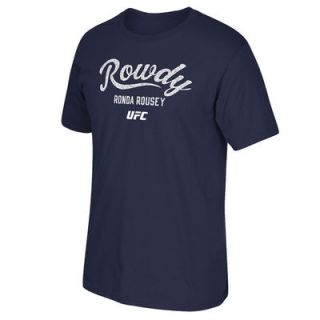 Ronda Rousey UFC 193 Reebok Rowdy Established T Shirt   Blue