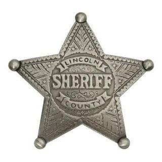 Old West Lincoln County Sheriff Badge Replica Multi Colored