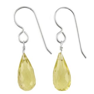 Ashanti Sterling Silver Lemon Quartz Gemstone Handmade Earrings (Sri