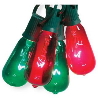 Sylvania Christmas String Light Set, Edison Bulb, Green & Red, 10 Ct. Model# V51597