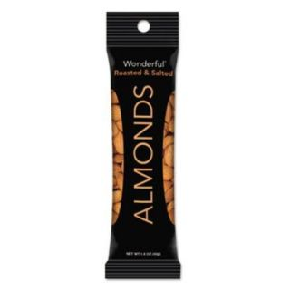 Nuts 042722C35S Wonderful Almonds, Dry Roasted & Salted, 1.5 Oz, 12/box Nuts 042722C35S