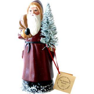 Schaller Paper Mache Candy Container Santa Old Coat by Alexander Taron