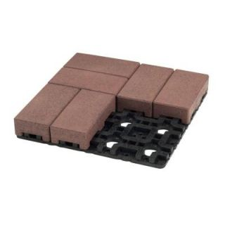AZEK 4 in. x 8 in. Village Composite Standard Paver Grid System (8 Pavers and 1 Grid) C048 003